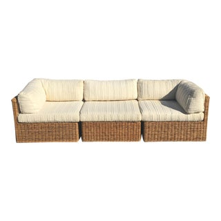 Vintage Comfort Designs Modular Wicker Sofa