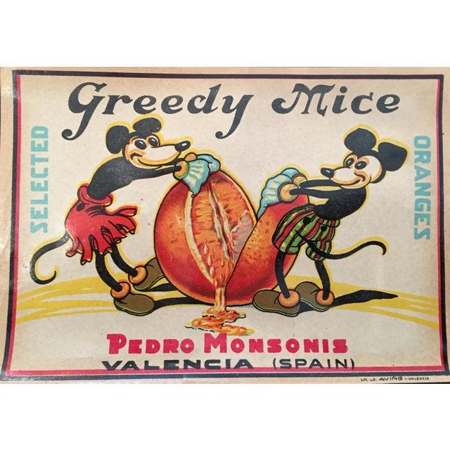Image of 'Greedy Mice' Orange Crate Label