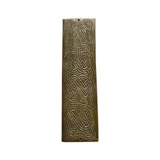 Incised Celtic Design Door Push Plate