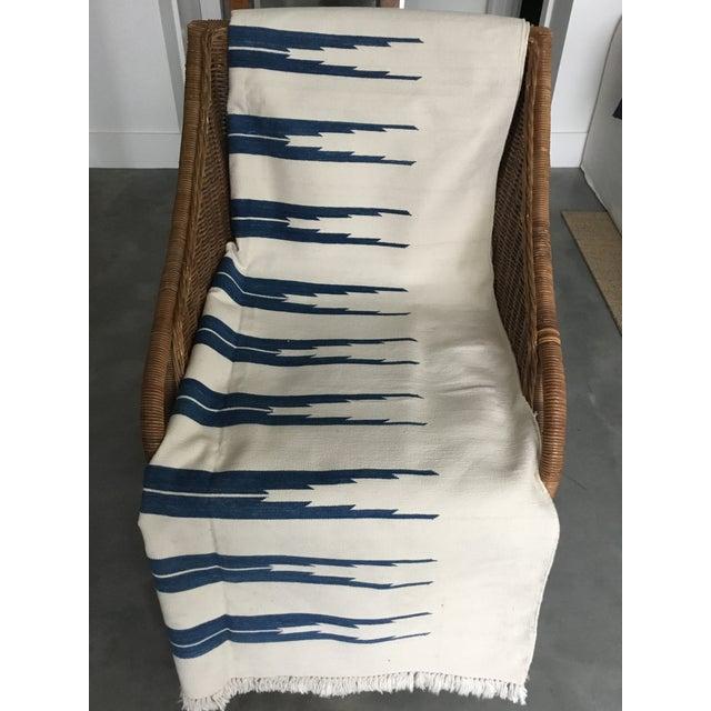 "Dhurrie Rug Custom Handmade in India - 72"" x 99"" - Image 10 of 10"