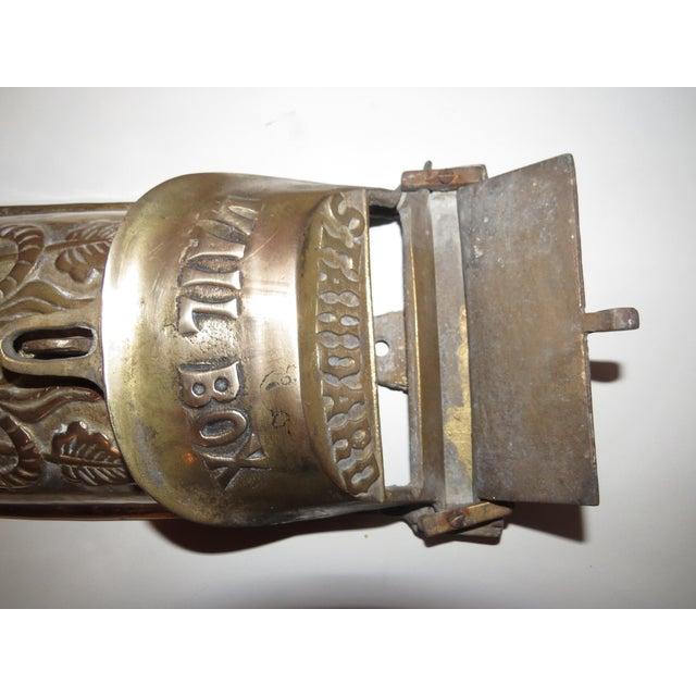 Wall Decor Mailbox : Vintage victorian brass mailbox wall art chairish