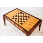 Image of Mid-Century Wooden Chess Game Table