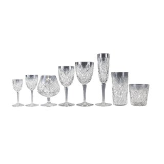 Stemware Service for 12 in Florence Pattern by Saint Louis - Set of 108