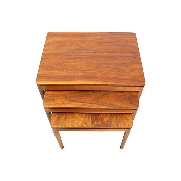 Kipp Stewart Walnut Nesting Tables - Set of 3 - Image 3 of 5
