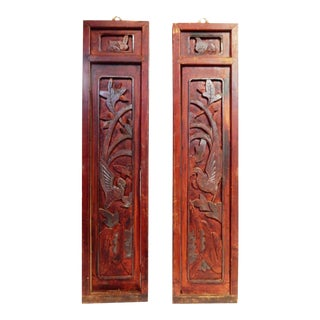 Antique Wall Hanging Panels - A Pair