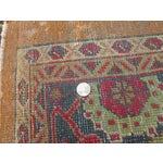 Image of Antique Persian Orange/Green Oushak Style Rug