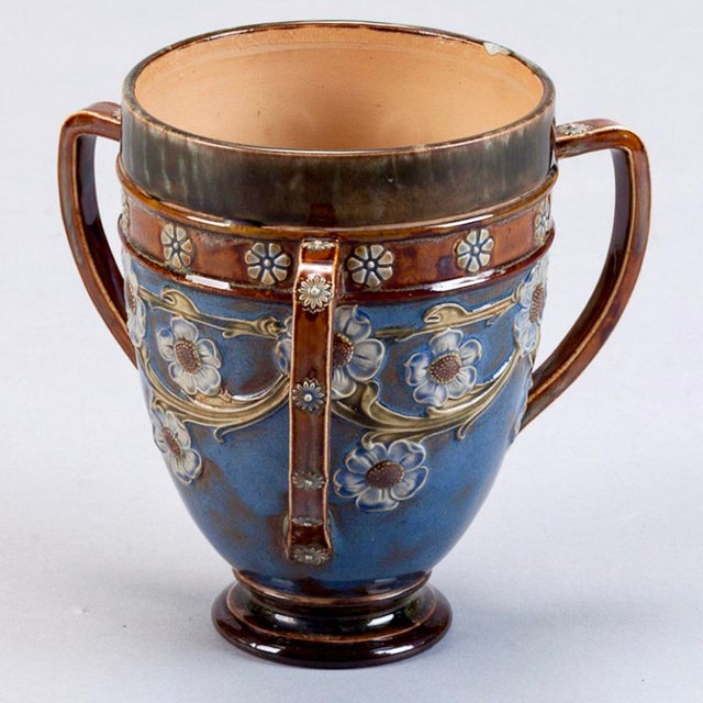 Image of Royal Doulton Three Handled Earthenware Vase