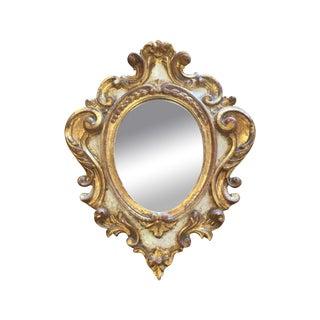 Oval Gilt Reproduction Rococo Mirror