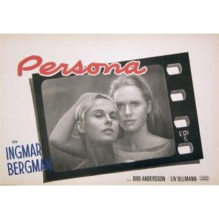 """""""Persona"""" Belgian Film Poster"""