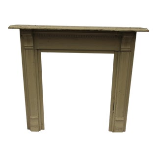 Antique Painted Wood Mantel