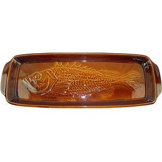 French St. Clement Majolica Fish Platter