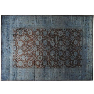 Blue & Burgundy Silky Vintage Collection - 10′ × 13′1″
