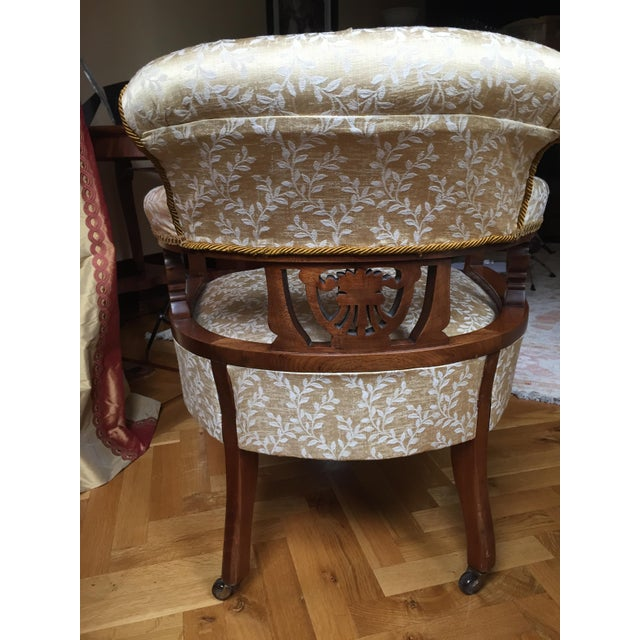 Image of Vintage Edwardian Barrel Chairs - A Pair