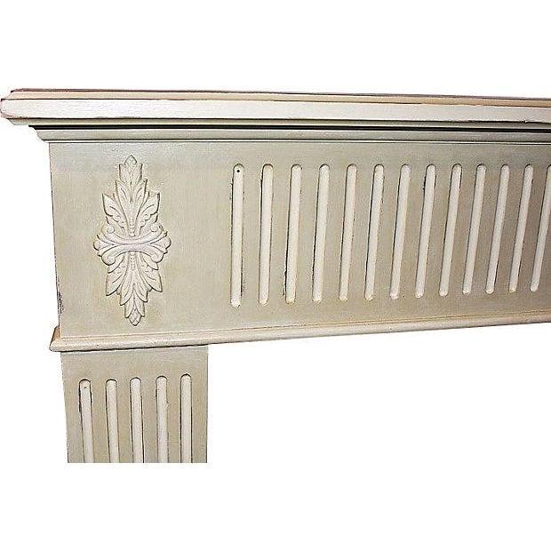 Celadon Distressed Fireplace Mantel Chairish