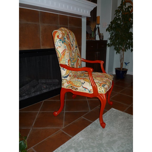 Paisley Accent Chair Under 150: Red Paisley Paprika Chair