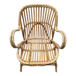 1950s Dutch Rattan Chair
