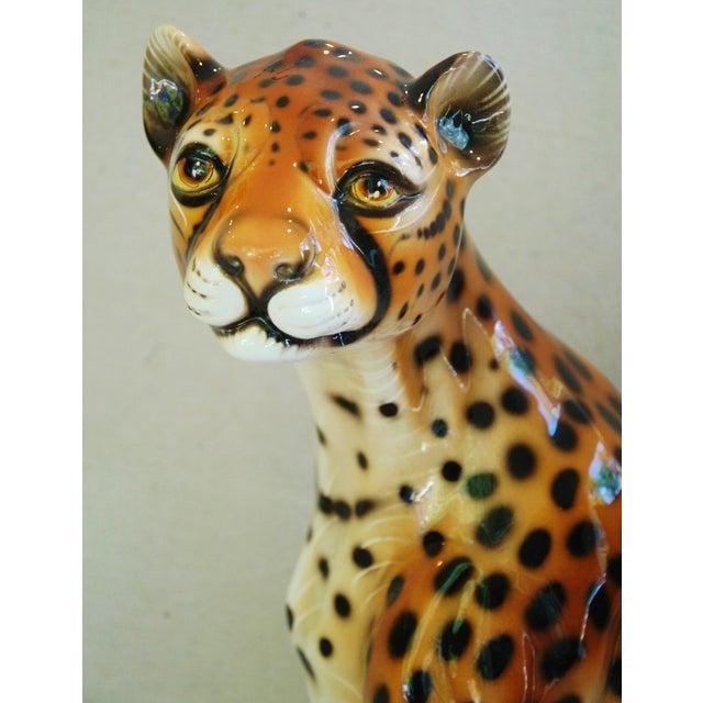 Large Hollywood Glam Mid-Century Italian Cheetah - Image 3 of 11