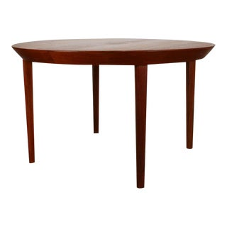 Vintage Kai Kristiansen Danish Teak Round Dining Table