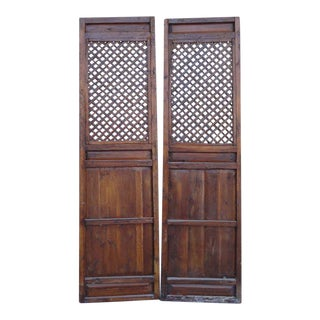 Chinese Pattern Wall Panels - A Pair