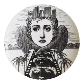Fornasetti Tema E Variazioni Plate, Number 372, Based on The iconic image of Lina Cavalieri.