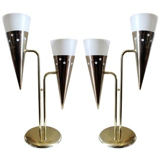 Pair Italian Cone Lamps