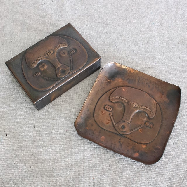 Art Deco African Box & Tray - Image 2 of 8