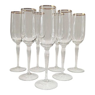 Gorham Crystal Champagne Flutes - Set of 7