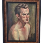 Image of Mid Century Portrait Painting