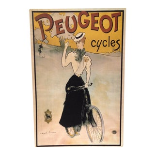 Vintage Inspired Peugeot Cycles Ad Print