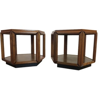 Brown Saltman Mid-Century Modern End Tables - Pair
