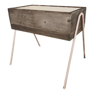 Reclaimed Wood & Copper Baby Bassinet