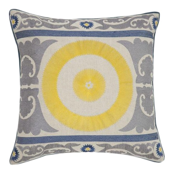 Sunshine Embroidered Pillow - Image 1 of 3