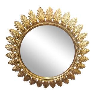 "Mid Century Round Sunburst Mirror 36"""