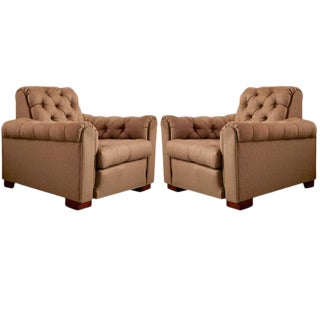 Leon & Maurice Jallot, Pair of Club Chairs