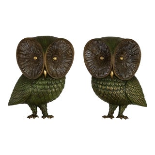 Burwood Product Co. Owl Wall Hangings - A Pair