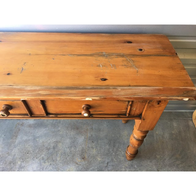 Rustic Handmade Console Table - Image 6 of 11