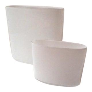 Tappio Wirkkala White Vases - Pair