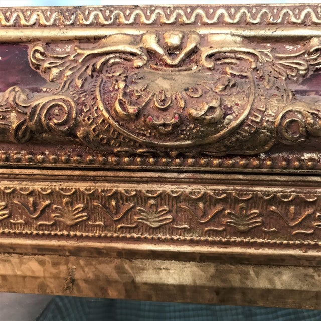 Neoclassical Beveled Faux Gilt Mirror - Image 3 of 4