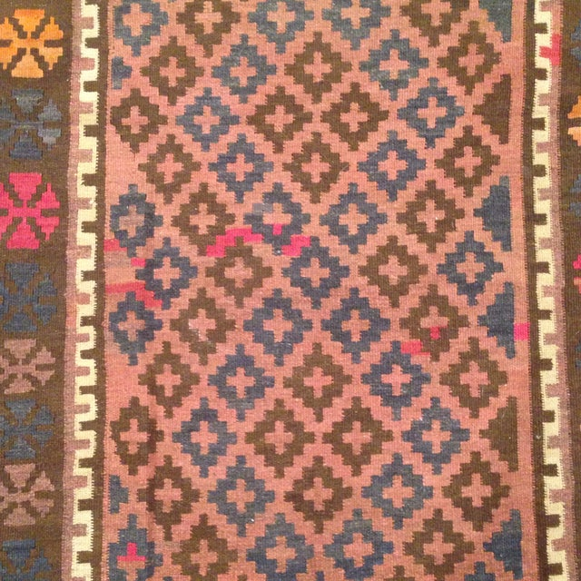 """Turkish Kilim With Hot Pink Pops - 7' X 4'1"""" - Image 4 of 6"""