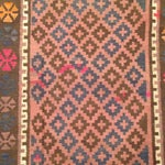"""Image of Turkish Kilim With Hot Pink Pops - 7' X 4'1"""""""