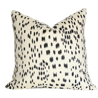 "Les Touches Black Pillow Cover 20"" Sq."