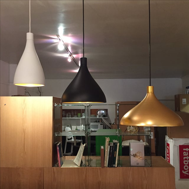 Black & Gold Pendant Light Fixture - Image 6 of 6