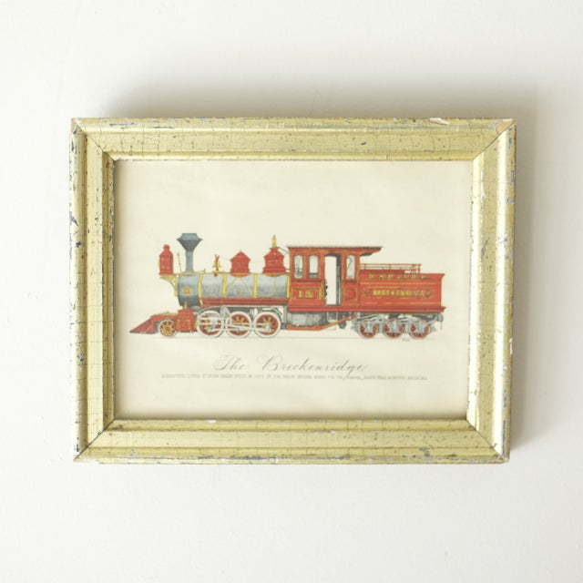 "Framed Train Print Titled ""The Breckenridge"" - Image 2 of 3"