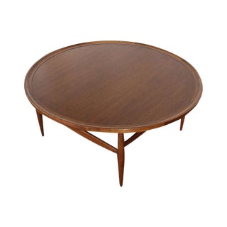 Danish Modern Walnut Round Coffee Table by Finn Juhl