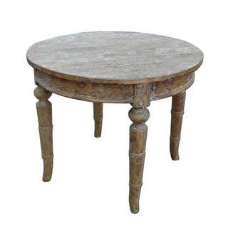Chinese Vintage Round WashOff Pedestal Table