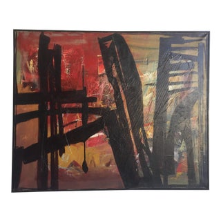 Mid-Century Modern Abstract Oil Painting