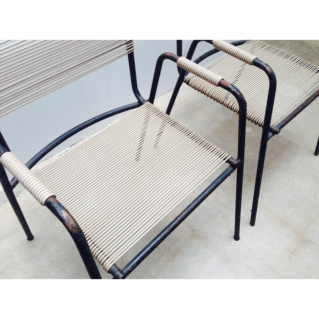Rare Exterior Corded Ames Aire Arm Chairs - A Pair - Image 6 of 7
