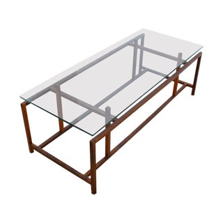 Komfort Danish Rosewood & Glass Top Coffee Table