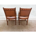 Image of Antique Victorian Oak Dining Chairs - Set of 4