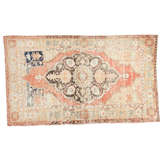 "Vintage Oushak Distressed Carpet - 4'10"" X 8'2"" - Image 1 of 10"